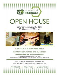 Open House @ Montessori Radmoor School | Meridian Charter Township | Michigan | United States