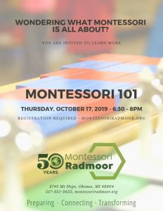 Montessori 101 - Required Class for New Parents